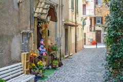 Rua agradável da vila foto de stock royalty free