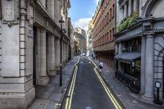 Rua alaranjada, Londres, Reino Unido Fotografia de Stock Royalty Free