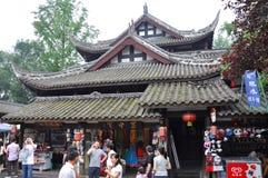Rua antiga de Jinli, Chengdu Fotos de Stock Royalty Free