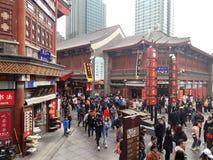 Rua antiga do ` da cultura do ` Cidade de Tianjin, China foto de stock royalty free