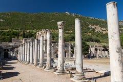Rua antiga em Ephesus Fotos de Stock