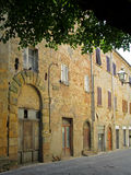 Rua antiga Volterra Itália foto de stock