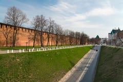 Rua ao longo do Kremlin em Nizhny Novgorod Imagem de Stock
