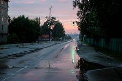 Rua após a chuva foto de stock
