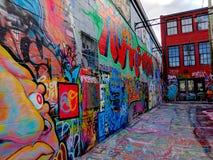 Rua Art Alley em Baltimore Maryland fotos de stock royalty free