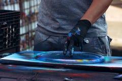 Rua Art Culture Spray Abstract Concept dos grafittis imagens de stock