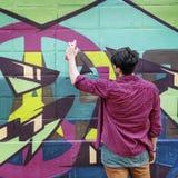Rua Art Culture Spray Abstract Concept dos grafittis Foto de Stock Royalty Free