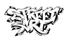 Rua Art Graffiti Vetora Lettering Imagens de Stock
