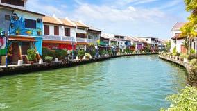 Rua art. Melaka, Malásia Fotos de Stock Royalty Free
