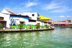 Rua art. Melaka, Malásia Fotografia de Stock Royalty Free