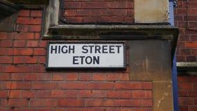 A rua assina dentro Inglaterra Foto de Stock Royalty Free