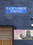 A rua assina dentro o quarto do norte boêmio, Manchester Reino Unido imagens de stock