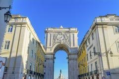 Rua Augusta Arch  Baixa Palace Square Lisbon Portugal Stock Image