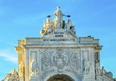 Rua Augusta Arch  Baixa Palace Square Lisbon Portugal Royalty Free Stock Photo