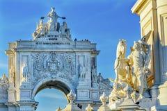 Rua Augusta Arch  Baixa Palace Square Lisbon Portugal Royalty Free Stock Image