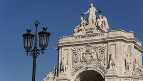 Rua Augusta Arch Royalty Free Stock Photography