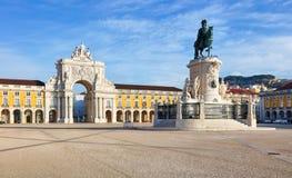 Rua Augusta Arch ist ein Sieges-, historisches Gebäude in Lissabon Stockbild