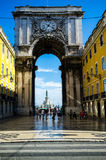 Rua Augusta Arch Royalty Free Stock Photos