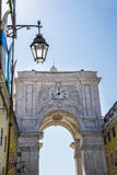Rua Augusta Arch Lisbon Royalty Free Stock Images