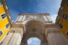 The Rua Augusta Arch in Lisbon. Stock Image