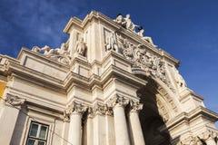 Rua Augusta Arch in Lisbon Royalty Free Stock Image