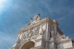 Rua Augusta Arch. Royalty Free Stock Photography