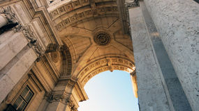 Rua Augusta Arch. In Lisbon, Portugal Royalty Free Stock Photos