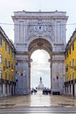 The Rua Augusta Arch in Lisbon, Portugal. December 01, 2016. The Rua Augusta Arch in Lisbon, Portugal Royalty Free Stock Photo