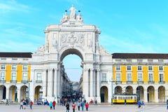 Rua Augusta Arch, Lisbon Royalty Free Stock Photography