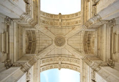 Rua Augusta Arch in Lisbon, Portugal Royalty Free Stock Image