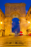 Rua Augusta Arch in Lisbon, Portugal Royalty Free Stock Photos