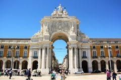 Rua Augusta Arch in Lisbon Royalty Free Stock Photo