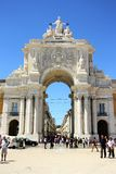 Rua Augusta Arch in Lisbon Stock Photography