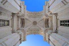 Rua Augusta Arch in Lissabon Lizenzfreies Stockbild