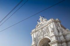 Rua Augusta Arch, Lissabon stock afbeelding