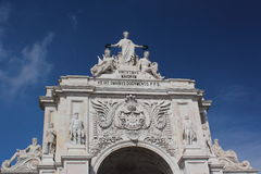 The Rua Augusta Arch Royalty Free Stock Image
