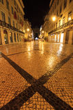 Rua Augusta cross Royalty Free Stock Photography