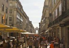 Rua Augusta em Lisboa Imagens de Stock Royalty Free