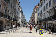 Rua Augusta in Lisbon, Portugal Royalty Free Stock Images