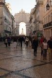 Rua Augusta in Lisbon, Portugal Royalty Free Stock Image