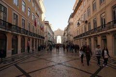 Rua Augusta in Lisbon, Portugal Stock Photography