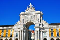 Rua Augusta's Triumphal Arch, Lisbon Stock Images