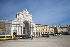Rua Augusta łuk, Lisbon Obraz Royalty Free