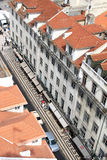 Rua Aurea from the Santa Justa Lift, Lisbon Stock Photo