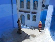 Rua azul Fotografia de Stock