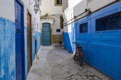 A rua azul Imagem de Stock Royalty Free