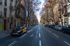 Rua Barcelona foto de stock