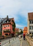 Rua bonita de Nuremberg no dia de verão Imagem de Stock