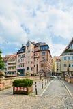 Rua bonita de Nuremberg no dia de verão Fotografia de Stock Royalty Free