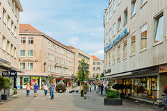 Rua bonita de Nuremberg no dia de verão Foto de Stock